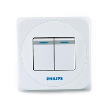 Philips Simply 2 Gang Switch