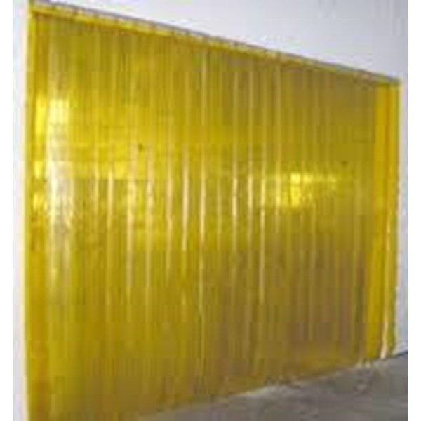 Pvc Strip Curtain Kuning Ribeed