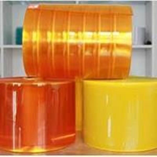 Tirai  PVC Plastik kuning