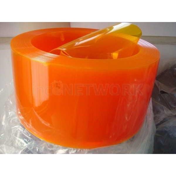 Tirai Strip PVC Curtain orange