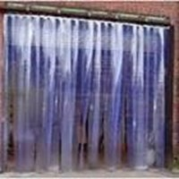 Tirai pvc curtain blue clear