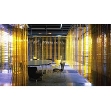 Mika plastik pvc curtain Kuning 021 22683207