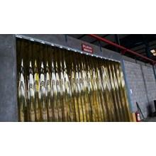 Tirai Plastik Pvc Curtain Kuning(Tirai Plastik) 02