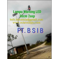 Lampu Warning LED Solar Cell 30cm 2asp.