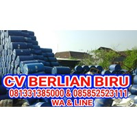 Barang Bekas Plastik Drum Plastik Biru 200Lt Murah 5