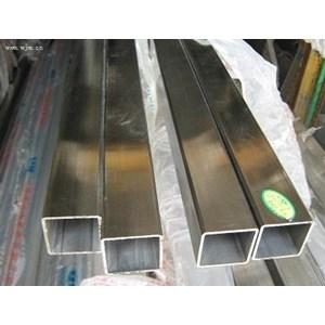 Pipa Kotak Stainless SS 201 uk. 10x40  tebal 0.8 mm