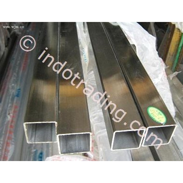 Pipa Kotak Stainless SS 201 uk. 10x10  tebal 0.8 mm