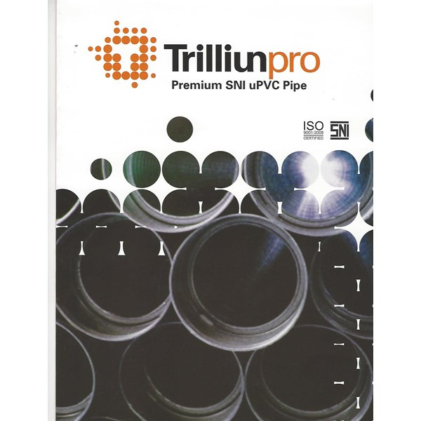 "PIPA PVC TRILLIUN SNI S-12.5 uk. 12"" X 6 M MOF"