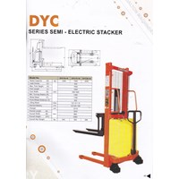 Jual Hand Stacker Semi Electric DALTON Kapasitas 1 sampai 2 Ton Tinggi Angkat 2 Meter sampai 3.5 Meter 2