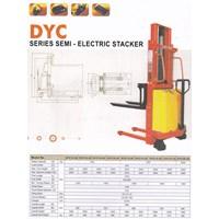 Distributor Hand Stacker Semi Electric DALTON Kapasitas 1 sampai 2 Ton Tinggi Angkat 2 Meter sampai 3.5 Meter 3