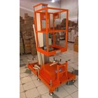 Distributor Tangga Hidrolik Aluminium Work Platform Single Mast untuk 1 Orang Tinggi 10 Meter sampai 12 Meter 3