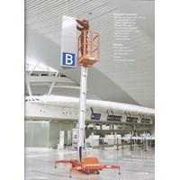 Jual Tangga Hidrolik Aluminium Work Platform Single Mast untuk 1 Orang Tinggi 10 Meter sampai 12 Meter 2