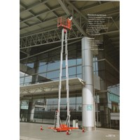 Distributor Tangga Elektrik Aluminium Work Platform Dual Mast untuk 2 Orang Tinggi 10 Meter sampai 16 Meter 3