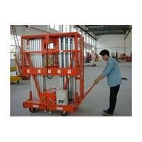 Jual Tangga Elektrik Aluminium Work Platform Dual Mast untuk 2 Orang Tinggi 10 Meter sampai 16 Meter