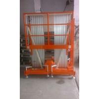 Tangga Elektrik Aluminium Work Platform Dual Mast untuk 2 Orang Tinggi 10 Meter sampai 16 Meter Murah 5