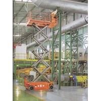 Jual Mobile Vertical Lift Model Gunting Scissor Lift Tinggi 12 Meter sampai 16 Meter 2
