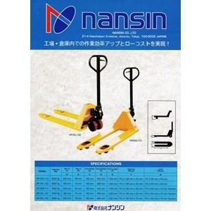 Hand Pallet Truck NANSIN (JAPAN) Kapasitas 2.5 Ton sampai 5 Ton