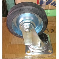 Roda Troli Caster Wheel Heavy Duty Polyurethane dan Nylon dan Karet