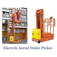 Importir Electric Aerial Order Picker dan Scissor Lift