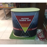 Jual Pop Up Counter No Header - Booth Portable - Event Desk - Pop Up Table 2