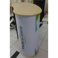 Distributor Pop Up Counter No Header - Booth Portable - Event Desk - Pop Up Table 3
