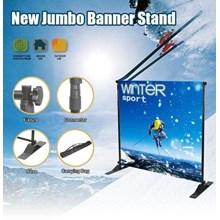 Jumbo Banner Std Tiang Silver - Tas Biru - Backdrop - Backwall