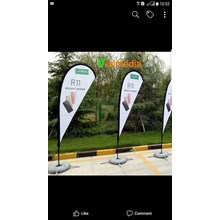 Flag Banner - Flying Banner - standing umbul umbul