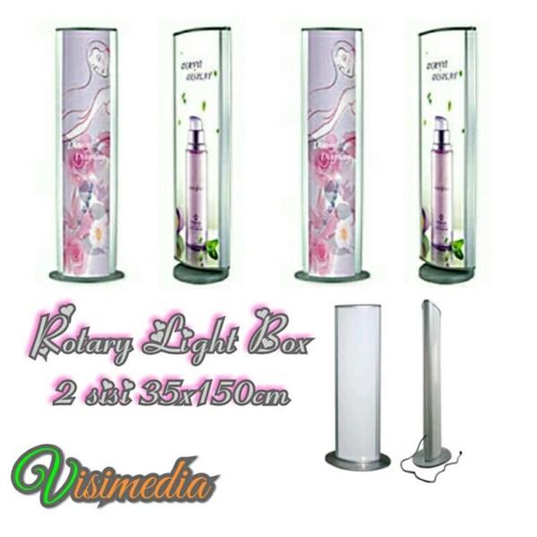 Rotari Light Box 35x150 2sisi - standing Light Box - Standing Banner