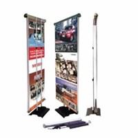 Jual Roll Banner Elektrik Servo Motor Atas 80x200 - Standing Promosi