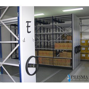 Maxisal Mobile Shelving Rack
