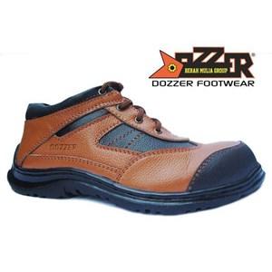 Sepatu Safety Casual Kulit Asli Murah Merk Dozzer 502