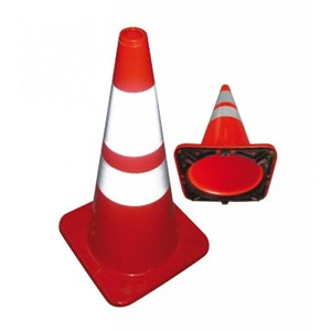 Floor Sign Traffic Cone Krisbow 70Cm Height Orange Pvc Kw1000477