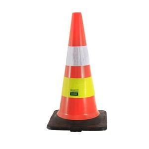Floor Sign Techno Pvc Traffic Cone Black Base 75Cm