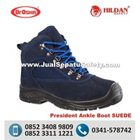 Sepatu Safety Dr.OSHA President Ankle Boot SUEDE