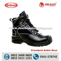 Sepatu Safety ASLI Dr.OSHA President Ankle Boot PU