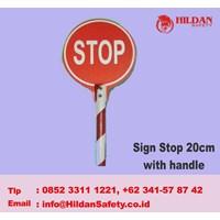 Tanda Keselamatan Sign Stop 20 Cm With Handle 1