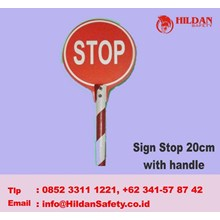 Tanda Keselamatan Sign Stop 20 Cm With Handle