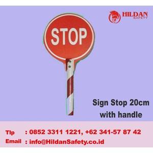 Tanda Keselamatan Sign Stop 20 Cm With Handle