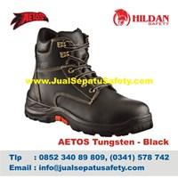 Sepatu Safety Merk Aetos Mercury Black Asli