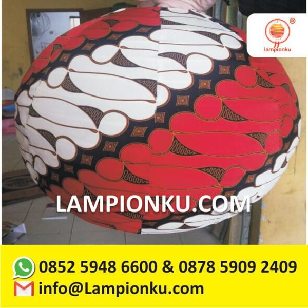 Harga Lampion Bulat Motiv Batik