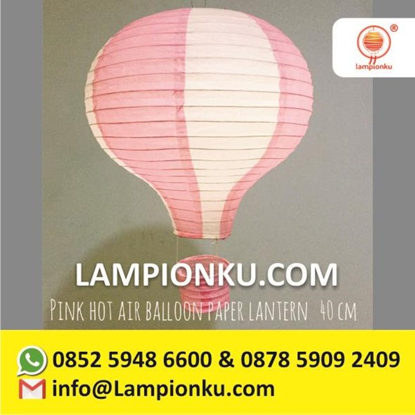 Lampion Balon Udara Kertas Anak