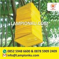 Lampion Bentuk Kotak Zig Zag