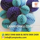 Honeycomb Paper Pom Poms 1