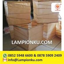 Lampion Gantung Kotak Kain Sederhana Murah