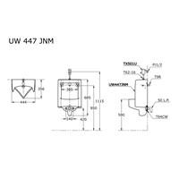 TOTO Urinal UW447JNM atau TX501U Flush Valves 1