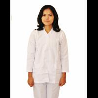 Grosir Seragam Perawat Wanita Lengan Panjang Biru 1