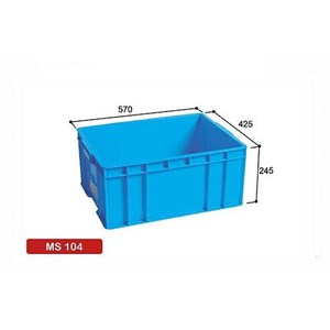 Plastic Stacking Box Vegetable container Blue Type MS 104