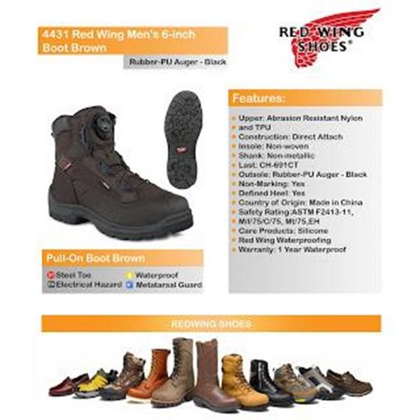 Sepatu Safety RED WING Men Type 4431 Murah