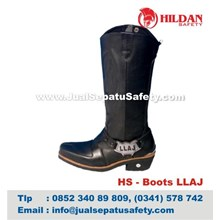 HS - Boots LLAJ HARGA Sepatu Boots Kulit Murah