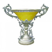 Vas Bunga Piala Ukir Dengan Lampu Fiberglass